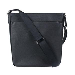 Coach Black Saffiano Leather Messenger Bag